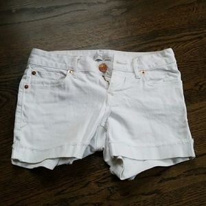 White Express shorts